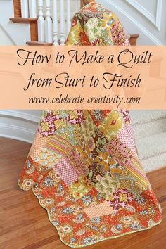 This easy step-by-step tutorial shows you how to make a quilt from start to finish.