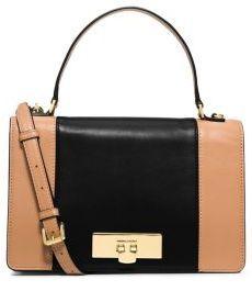 MICHAEL Michael Kors Callie Medium Color-Block Leather Messenger