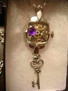 Steampunk Clockwork Movement Pendant Necklace by ClockworkAlley