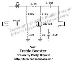 Schematic diagram of Boss SD-1 Super OverDrive pedal