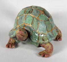 Pottery Animals, Ceramic Animals, Clay Animals, Sea Sculpture, Pottery Sculpture, Clay Sculptures, Animal Sculptures, Clay Turtle, Ceramic Turtle