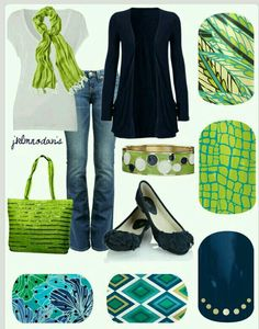 Chartreuse & Navy