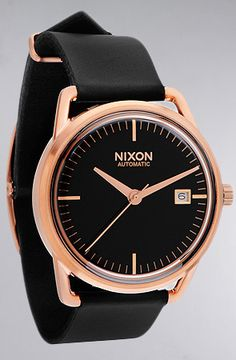 The Mellor Automatic Watch in Rose Gold & Black by Nixon  $600 Use code STACY118 to save 20%