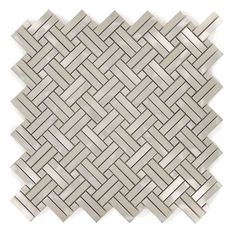 Unique Shape Silver Unique Shapes Metal Brushed Tile