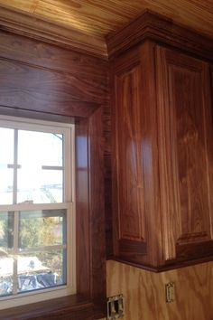 Walnut kitchen designed and provided by Rolling Hills Millwork. To be continued....