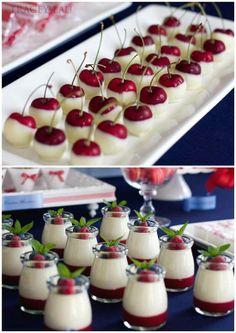 White chocolate dipped cherries...yum!