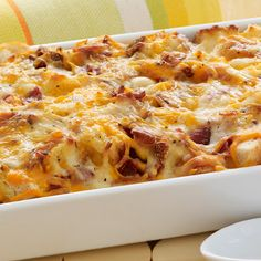 Cheesy Bacon & Egg Brunch Casserole - used more onion and carmelized before adding in.