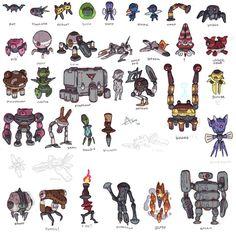 Game Character Design, Character Concept, Character Art, Robot Cartoon, Cartoon Monsters, Robot Concept Art, Game Concept Art, Android Art, Gundam Art