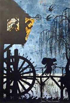 An old woman came to the mill with a bag of corn  by Jan Pienkowski