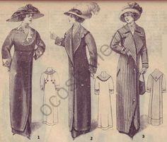 1910-1920   История костюма Женские пальто и манто. Мода в России начала 1910-х годов
