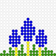 Kralenplank Blauwe druifjes Pearler Bead Patterns, Pearler Beads, Fuse Beads, Pearl Beads Pattern, Iron Beads, Bobble Stitch, Spring Activities, Spring Blossom, Cute Crafts