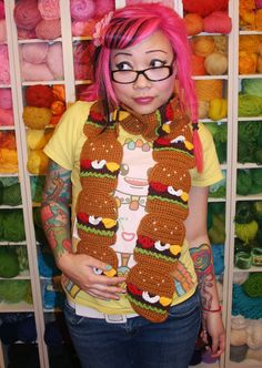 CheeseBurger Scarf