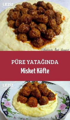 Meatballs in Puree Bed - Easy Recipes - Videolu Tarif - Leziz Yemek Tarifleri - Videolu Yemek Tarifleri - Pratik Yemek Tarifleri Healthy Eating Tips, Healthy Nutrition, Easy Easter Recipes, Easy Recipes, Roasted Mediterranean Vegetables, Turkish Recipes, Ethnic Recipes, Albondigas, Roasted Turkey