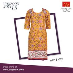 From delicate florals to uber-chic patterns, our latest collection is graceful, casual and classic - all at once. www.shopforw.com #florals #chic #grace #style #fashion #women #kurta #ethnic wear
