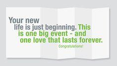 Wedding Congratulations or Baby Congratulations Card / Your Life is Over - Wedding Congrats - Engagement Congratulations Card - Pregnancy