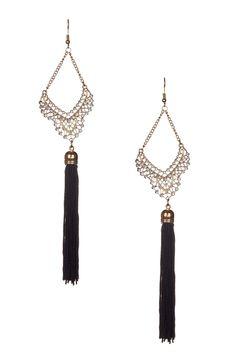 Stella + Ruby Flirt Silk Tassel Earrings
