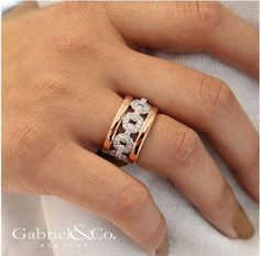 """""""Style is a way to say who you are without having to speak"""" #GabrielCoRetailer #GabrielNY #SENeedhamJewelers #Love #Fashion #Style #Diamonds #TwoTone #Ring #Gifts"""