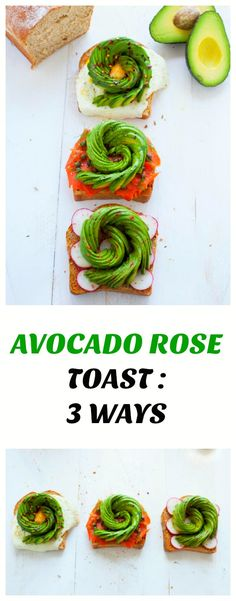 Avocado roses are all the rage right now. Take your avo toast to the next level with my 3 variations on avocado rose toast.
