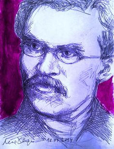 Friedrich Nietzsche 's portraits by Lena Hades