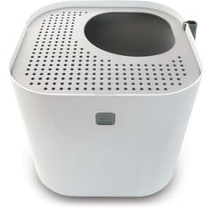 the modkat litter box: I have it, it was hard to spend this much on a toilet but it's worth every penny.  (I have it in blue)