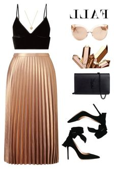 """LLAF"" by h-carter on Polyvore featuring moda, Miss Selfridge, Gianvito Rossi, Yves Saint Laurent, Linda Farrow, T By Alexander Wang i Michael Kors"