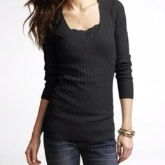 Express knit cable top