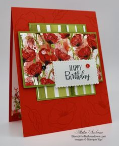 Stampin' Up! Peaceful Moments with Painted Poppies Birthday Card – Stampin' … Stampin' Up! Peaceful Moments with Painted Poppies Birthday Card – Stampin' in the Meadows Simple Birthday Cards, Homemade Birthday Cards, Birthday Cards For Boyfriend, Happy Birthday Cards, Homemade Cards, Birthday Greeting Cards Handmade, Birthday Gifts, Watercolor Birthday Cards, Poppy Cards