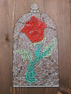 Beauty and the Beast String Art Rose Project 4 | Crafts ...