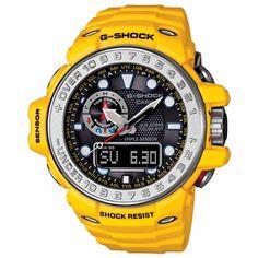 7d14da54fe7a Casio Mens G-Shock Gulfmaster Atomic - Yellow   Black - Smart Access -
