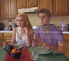 """por Alex Gross - """"The Meal"""", 2016. #arte"""