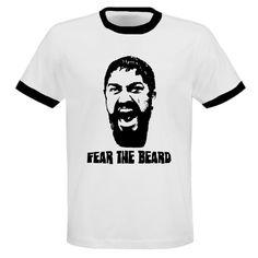 Leonidas Spartans Sparta 300 Fear The Beard T Shirt