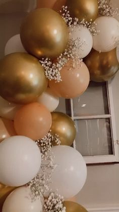 Bridal shower balloon arch, baby shower balloon arch, balloon arch necessities, neutral bridal shower decor, neutral baby shower decor Informations About Neutral balloon arch Pin You can easily use my Birthday Balloon Decorations, Diy Party Decorations, Bridal Shower Decorations, Birthday Ideas For Women, Balloon Ceiling Decorations, 18th Birthday Party Ideas Decoration, 60th Birthday Balloons, 50th Birthday Themes, Baby Shower Decorations Neutral