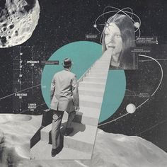Art,fashion,design,technology etc from the atomic space age Surreal Collage, Surreal Art, Collages, Psychedelic Art, Collage Design, Collage Art, Photomontage, Graphic Design Posters, Graphic Design Inspiration