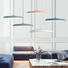 Modern Nordic Angled Drop Light Post-Modern Nordic Circular LED Hanging Lamps The post Modern Nordic Angled Drop Light appeared first on Lampe ideen. Led Pendant Lights, Glass Pendant Light, Led Ceiling Lights, Hanging Lights, Hanging Lamps, Pendant Lighting, Pendant Lamps, Wall Lighting, Starburst Light