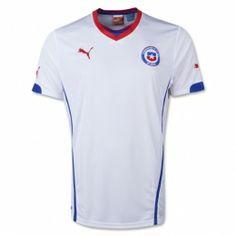 2014 World Cup Chile Away White Soccer Jersey Shirt Fifa 2014 World Cup, Brazil World Cup, As Roma, Fifa Online, World Cup Shirts, Football Shirts, Soccer Jerseys, Jersey Shirt, Polo Ralph Lauren