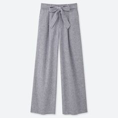 Cotton pants with an attractive new design.- Casual fabric combines lightweight linen with the natural feel of cotton. Cotton Pants, Linen Pants, Uniqlo, Cute Pants, Women's Pants, Trousers, Smart Casual Outfit, Lookbook, Models