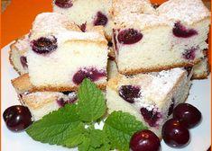 Třešňová bublanina Czech Recipes, Kefir, Sweet Recipes, Cheesecake, Goodies, Cooking Recipes, Yummy Food, Sweets, Desserts
