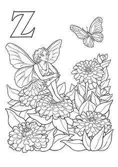 Coloriage alphabet elfes z sur Hugolescargot.com - Hugolescargot.com