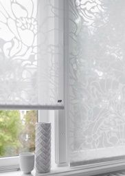 Sheer Roller Blinds with a delicate floral design  #luxaflex #roller blinds # floral