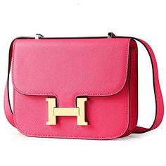 Fengyaqiandai Constance KJ Style Women's Classic Genuine Leather Epsom Grain Shoulder Bags with Gold Buckle Rose Pink Fengyaqiandai http://www.amazon.com/dp/B01530YJK8/ref=cm_sw_r_pi_dp_43obwb05AXG87