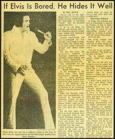 Elvis presley Newspaper Concert Review For Nashville TN. 7-1973 | by rockinred1969