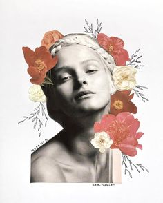 Muse No. 5 carmen kass | flower collage by kate rabbit