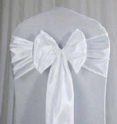 14 Stuhlschleifen 15cm X 275 CM Weiß Hochzeit Deko Schleifen Bänder Hussen | eBay