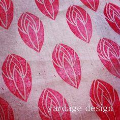 yardage design ~ hand printed fabric and homewares: January 2012