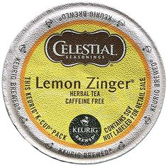 Celestial Seasonings Keurig Lemon Zinger Tea KCups 24 Ct * Learn more by visiting the image link. Note: It's an affiliate link to Amazon.