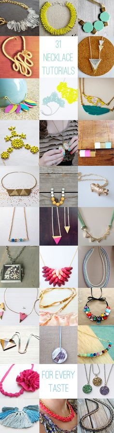 31 tutoriales de collares / 31 DIY necklace tutorials