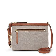 Fossil Fiona Ew Crossbody (21 KWD) ❤ liked on Polyvore featuring bags, handbags, shoulder bags, white cross body purse, crossbody purses, fossil shoulder bags, structured purse and cross-body handbag
