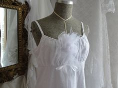 White eyelet dress mori girl shabby cottage chic by SummersBreeze