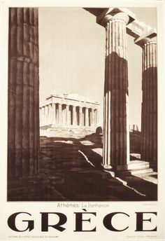 Greece Athens Parthenon Travel Poster Print by BloominLuvly Greece Tourism, Greece Travel, Old Posters, Greece History, Tourism Poster, Greece Holiday, Greek Art, Athens Greece, Vintage Travel Posters