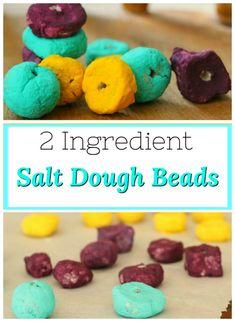 This is the perfect salt dough recipe for making beads, ornaments, or any TODDLER projects at all! Quiet Time Activities, Creative Activities For Kids, Kids Learning Activities, Craft Projects For Kids, Crafts For Kids To Make, Christmas Crafts For Kids, Motor Activities, Art Projects, Merry Christmas